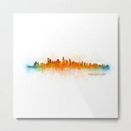 Vancouver Canada City Skyline Hq v03 Metal Print