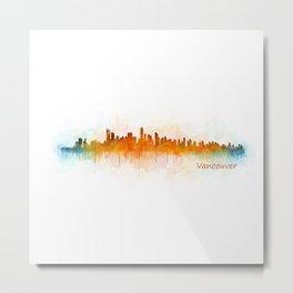 Vancouver Canada City Skyline Hq v03 Metal Print