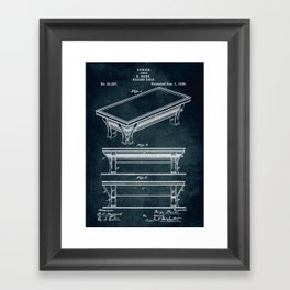 1895 - Billiard table Framed Art Print