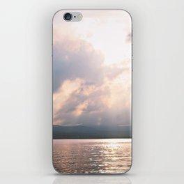 sunset on the Hudson iPhone Skin