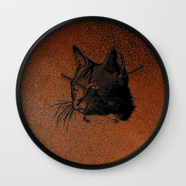 Cat20170501_by_JAMColorsSpecial Wall Clock