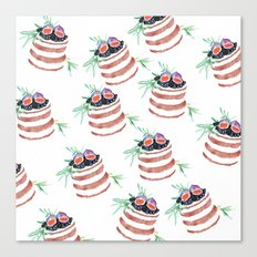 Fig cakes pattern Canvas Print