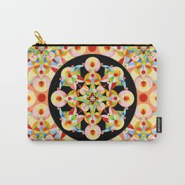 Pastel Carousel Black Circle Carry-All Pouch