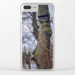 Ingrown Tree Fishing Sign at Tee Lake Clear iPhone Case