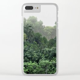 Tropical Foggy Forest Clear iPhone Case