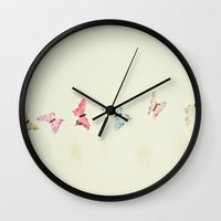 imagination Wall Clocks featuring Imagination by Cassia Beck