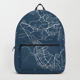 Gdansk Blueprint Street Map, Gdansk Colour Map Prints Backpack