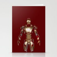 iron man Stationery Cards featuring Iron Man  by George Hatzis