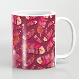 """""""Strawberry feather pattern"""" Coffee Mug"""