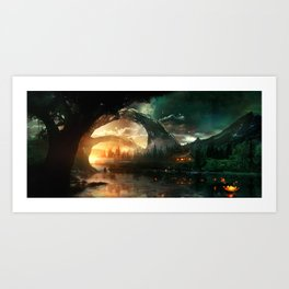 Seeking Solace Art Print