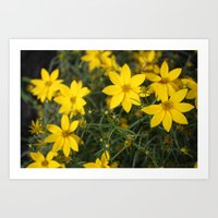 rileigh smirl Art Prints featuring Yellow Flowers by Rileigh Smirl