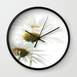 white parasols Wall Clock