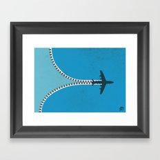 Unzip the sky Framed Art Print