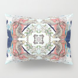 Hokusai Mandala Pillow Sham