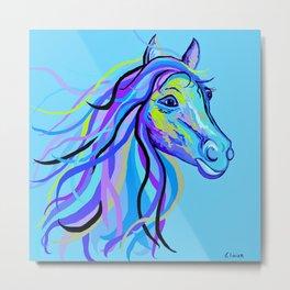 Blue Horse Metal Print