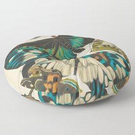 E.A.Séguy - Papillons / Butterflies (1925) Plate 10 Floor Pillow