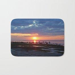 Sunset under Stormy Skies Bath Mat