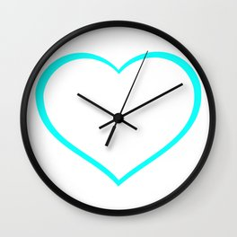 Heart outlines, love, romantic Wall Clock