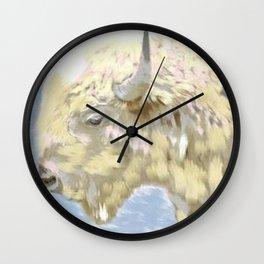 White buffalo calf Wall Clock