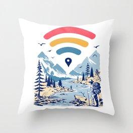Internet Explorer Throw Pillow