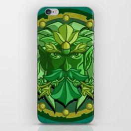 Green Man iPhone Skin
