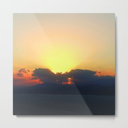 Angel cloud at  sunset Metal Print