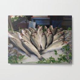 Fish Market in Venice Metal Print