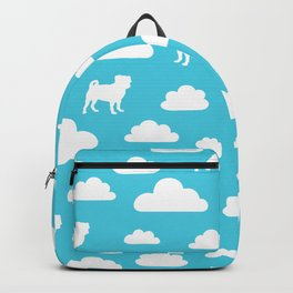 Pug Clouds (white and blue) Backpack