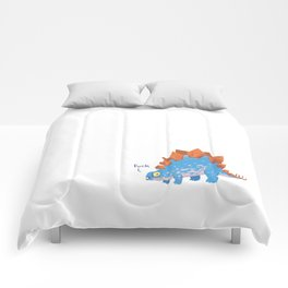 Potty Mouth Dinos: Stegosaurus Comforters