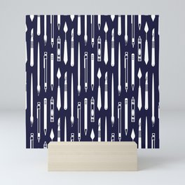 Create (dark blue version) Mini Art Print
