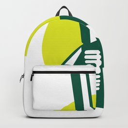 Cricket Batsman Batting Icon Retro Backpack