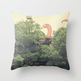 the clubhouse Throw Pillow