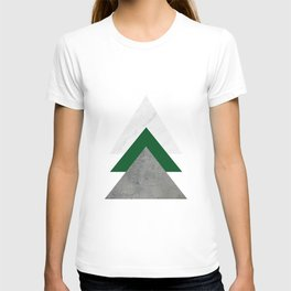 Marble Green Concrete Arrows Collage T-shirt