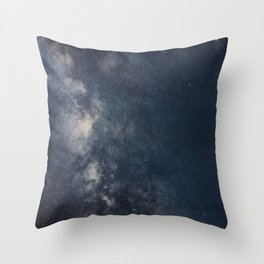 Milky Way galaxy beautiful Night Sky Throw Pillow