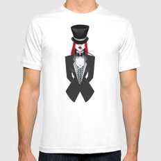 Gotham Masquerade MEDIUM White Mens Fitted Tee