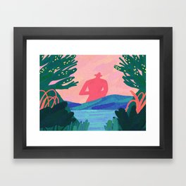 walk with me Framed Art Print