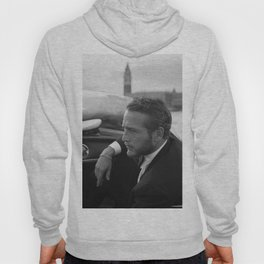 1963 Paul Newman at Venice Film Festival black and white photograph Hoody