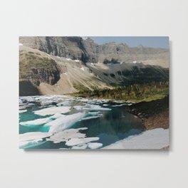 Iceberg Lake, Glacier National Park Metal Print