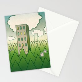 that in scare flew away to a forest with high grey trees. Stationery Cards