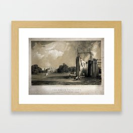 The Large Refracting Telescope at Birr Castle, Parsonstown, Ireland, belonging to Lord Rosse Framed Art Print