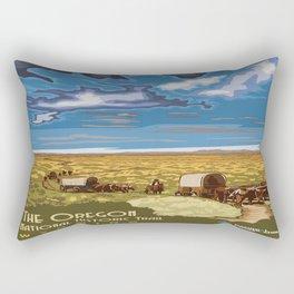 Vintage poster - The Oregon Trail Rectangular Pillow
