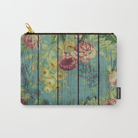 Flowers on Wood 08 Carry-All Pouch