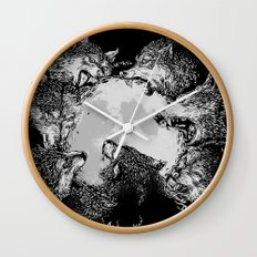 Moon Eaters Wall Clock