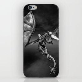 Dragon Rider BW iPhone Skin