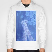 jelly fish Hoodies featuring Jelly Fish by Lise Dumas Richard