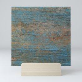 Painted Blue Wood Mini Art Print