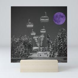Chair Lift to the Purple Moon Mini Art Print