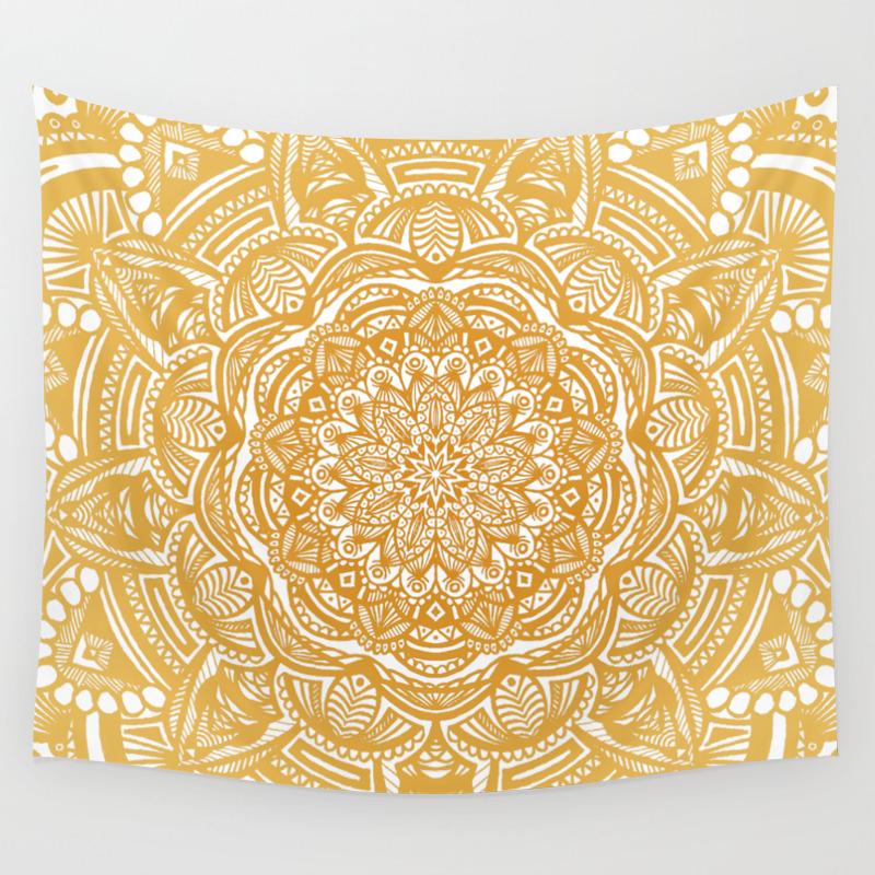 Detailed-mandala and Mandala-pattern Wall Tapestries | Society6