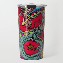Dragon Popart By Nico Bielow Travel Mug