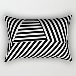 Abstract black and white stripes design Rectangular Pillow